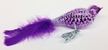 Purple Waffle Bird Ornament by Glas-Bartholmes