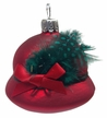 Ladies Bavarian Hat, Red Ornament by Glas-Bartholmes