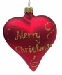"Red ""Merry Christmas"" Heart Ornament by Glas-Bartholmes"