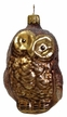 Owl, Brown & Bronze Ornament by Glas-Bartholmes