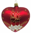 Red Heart with Advent Decor Ornament by Glas-Bartholmes