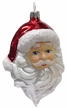 Santa Head with Beard and Red Hat Ornament by Glas-Bartholmes