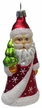 Santa with Tree in Red Coat with Stars Ornament by Glas-Bartholmes