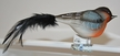 Bullfinch with Feather Tail Ornament by Glas-Bartholmes