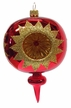 Reflector, Three Punctures, Shiny Red & Gold Ornament by Glas-Bartholmes