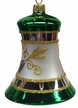 Green & White Bell Ornament by Glas-Bartholmes