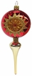 Hang Top Reflector, Three Punctures, Gold & Shiny Red Ornament by Glas-Bartholmes