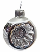 Mini Silver & White Reflector Ornament by Glas-Bartholmes
