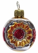 Mini Red & Gold Reflector Ornament by Glas-Bartholmes