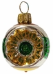 Mini Green & Gold Reflector Ornament by Glas-Bartholmes