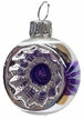 Mini Purple & White Reflector Ornament by Glas-Bartholmes
