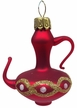 Small Red Coffee Pot with Decorative Loops Ornament by Glas-Bartholmes