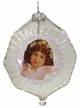 Transparent Ornament with Angel Face by Glas-Bartholmes