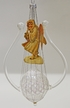 Limited Edition Transparent Lyre with Angel and Gimped Wire Ornament by Glas-Bartholmes