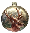 Medallion with Buck Ornament by Glas-Bartholmes
