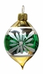 Ovoid, Green & Gold Ornament by Glas-Bartholmes