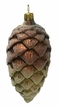 Pinecone, Green & Brown Ornament by Glas-Bartholmes