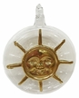 Sun with Rays, 24K Gold on Clear Glass Ornament by Glas-Bartholmes