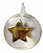Ball with Star, 24K Gold on Clear Glass Ornament by Glas-Bartholmes