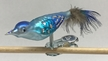 Mini Bird, Blue and Turquoise Ornament by Glas-Bartholmes