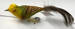 Yellow Bunting with Feather Tail Ornament by Glas-Bartholmes