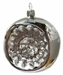 Silver and White Ball Ornament by Glas-Bartholmes