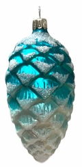 Pinecone, Turquoise Ornament by Glas-Bartholmes