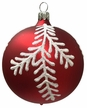 Ball, White Fir Branch, Red Ornament by Glas-Bartholmes