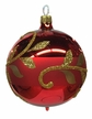 Ball, Golden Leaves, Red Ornament by Glas-Bartholmes