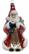 Santa with Cape & Lantern, Red Ornament by Glas-Bartholmes