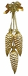 Pinecone, Triple Tied, Gold Ornament by Glas-Bartholmes