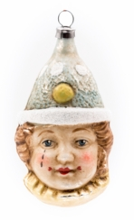 Clown in Blue Cap Ornament made by Richard Mahr GmbH (Marolin) in Steinach