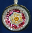 Banded Silver Reflector Ornament by Nostalgie