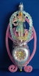 Angel in Pink Chenille Antique Style Ornament by Nostalgie