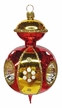 Red & Gold Reflector Ornament by Nostalgie-Christbaumschmuck UG