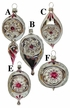Assorted Burgundy & Silver Reflector Ornaments by Nostalgie-Christbaumschmuck UG - $15 Each
