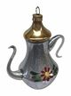 Teapot with Flower Ornament by Nostalgie-Christbaumschmuck UG