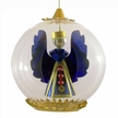 Blue Angel with Red Beads Ornament by Resl Lenz in Bodenkirchen
