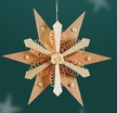 Large Wooden Star Ornament by Martina Rudolph from Germany
