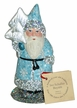 Light Blue with Silver Molded Tree Santa Paper Mache Candy Container by Ino Schaller