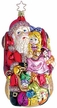 Little Girl Meeting with Santa Ornament by Inge Glas