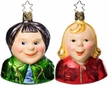Max & Moritz - Set of Two - Life Touch Ornament by Inge Glas