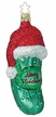 Merry Christmas Pickle Ornament by Inge Glas