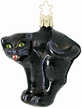 Midnight, Cat Ornament by Inge Glas