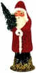 Mini Beaded Red Belznickel Paper Mache Candy Container by Ino Schaller