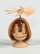 Mini Nativity Pyramid in Walnut Shell