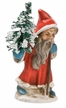 Miniature Santa  Paper Mache Figurine by Marolin