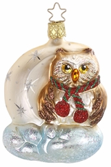 Moon Hoot, Owl Ornament by Inge Glas