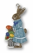 Mrs. Bunny with Basket of Eggs, Painted on Both Sides Pewter Ornament by KÜHN