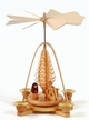 Nativity Pyramid  with Twilled Tree, Natural